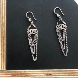 Lois Hill 925 Sterling Silver chain earring